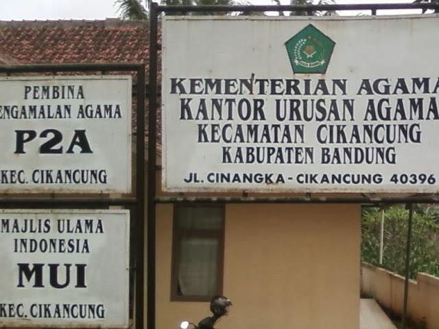 Alamat Kantor Urusan Agama (KUA) di Kabupaten Bandung