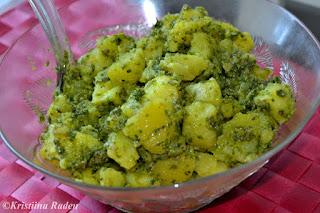 Potato salad salsa verde