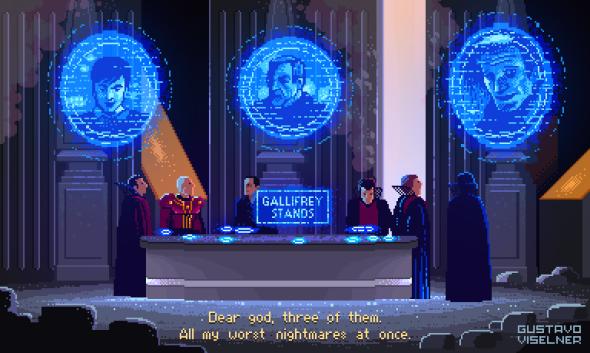 Gustavo Viselner ilustrações pixel art filmes tv referências Doctor Who