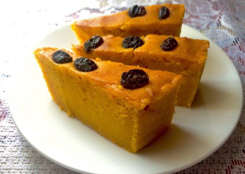 Resep Cake Kukus Labu Kuning Lapis Coklat: Cara Membuat Bolu Labu Kuning Menggunakan Magic Com