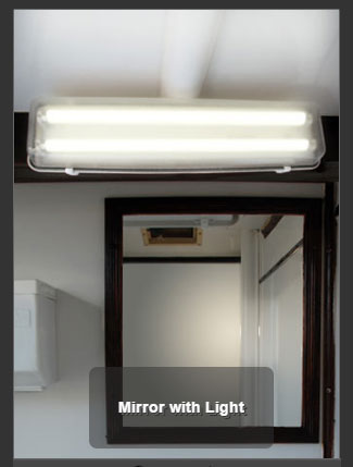 The Mobilet Mirror with Light
