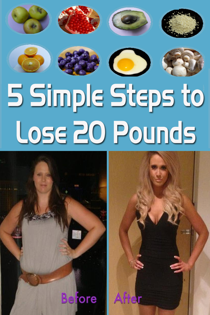 5 Simple Steps to Lose 20 Pounds