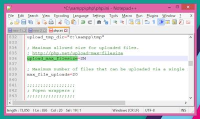 Cara Mengatur Limit Upload di XAMPP