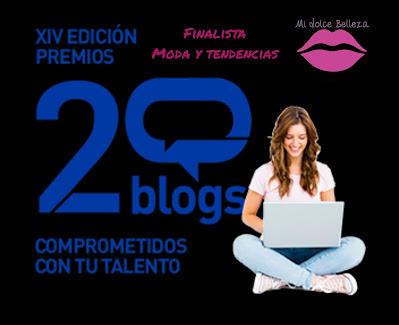 Finalista premios 20 blogs midolcebelleza