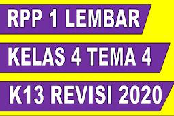 RPP 1 Lembar Kelas 4 Tema 4 K13 Revisi 2020