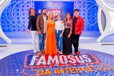 Narcisa, Dilsinho, Eliana, Gkay, Marlei Cevada e Lucas Veloso. Crédito: Gabriel Cardoso/SBT