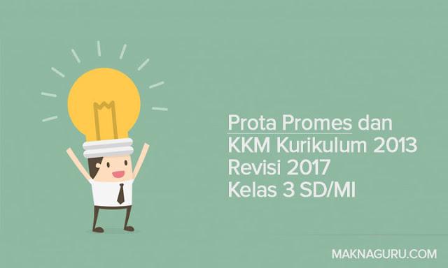Prota Promes dan KKM Kurikulum 2013 Revisi 2017 Kelas 3 SD/MI