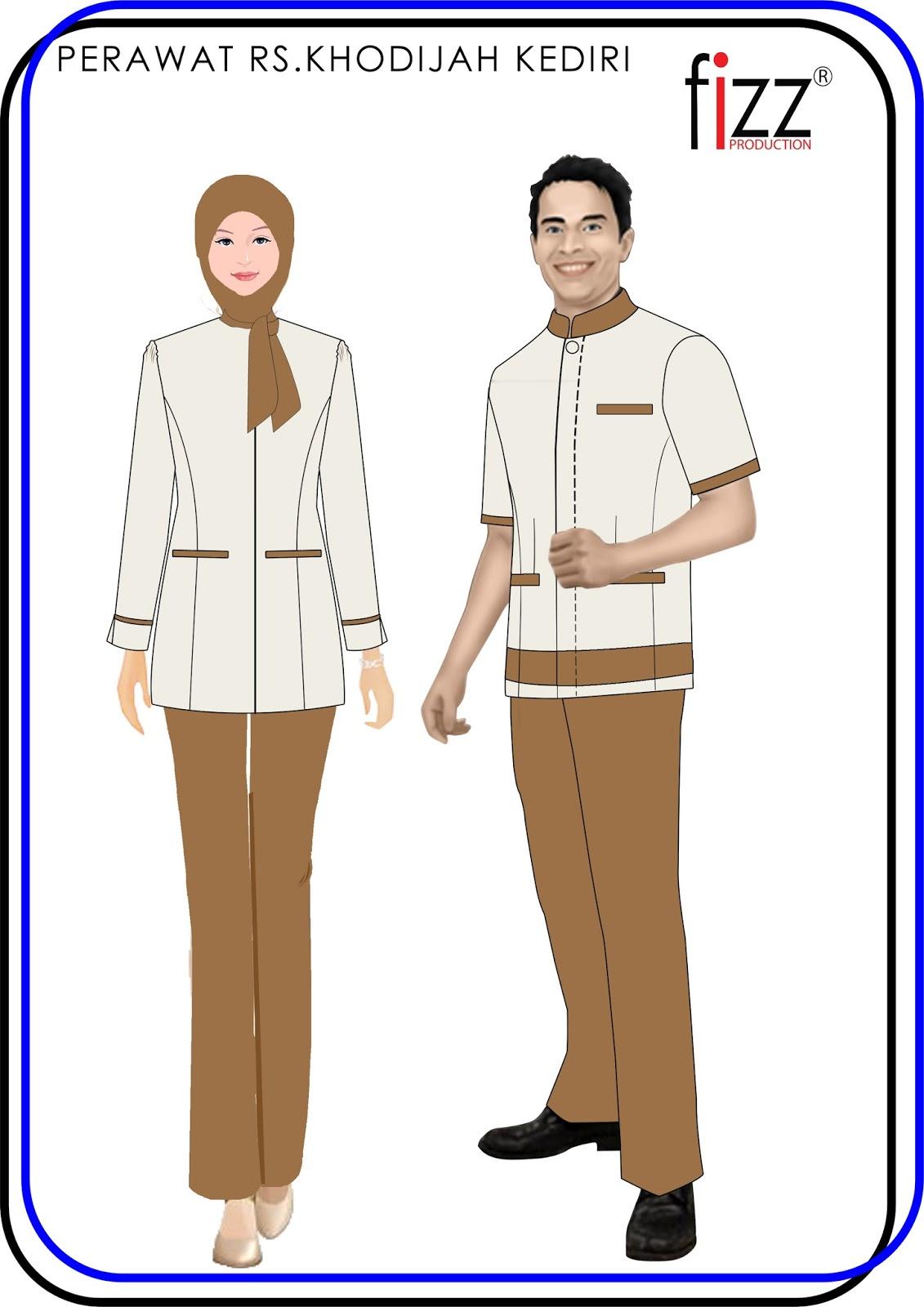 Jasa Pembuatan Seragam Untuk Perusahaan Kemeja Baju Kerja Kombinasi Batik Atasan Teranyar Produksi Contoh Formal Perempuan Kantor 2016 Murah