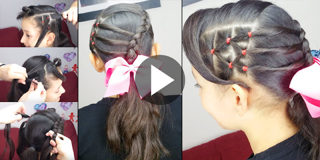Learn - How To Make Simple And Easy Accented Ponytail Hairstyle, See Tutorial