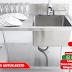 Meja Sink 1 Bowl (Meja Cuci Piring) Untuk Dapur Resto di Yogyakarta
