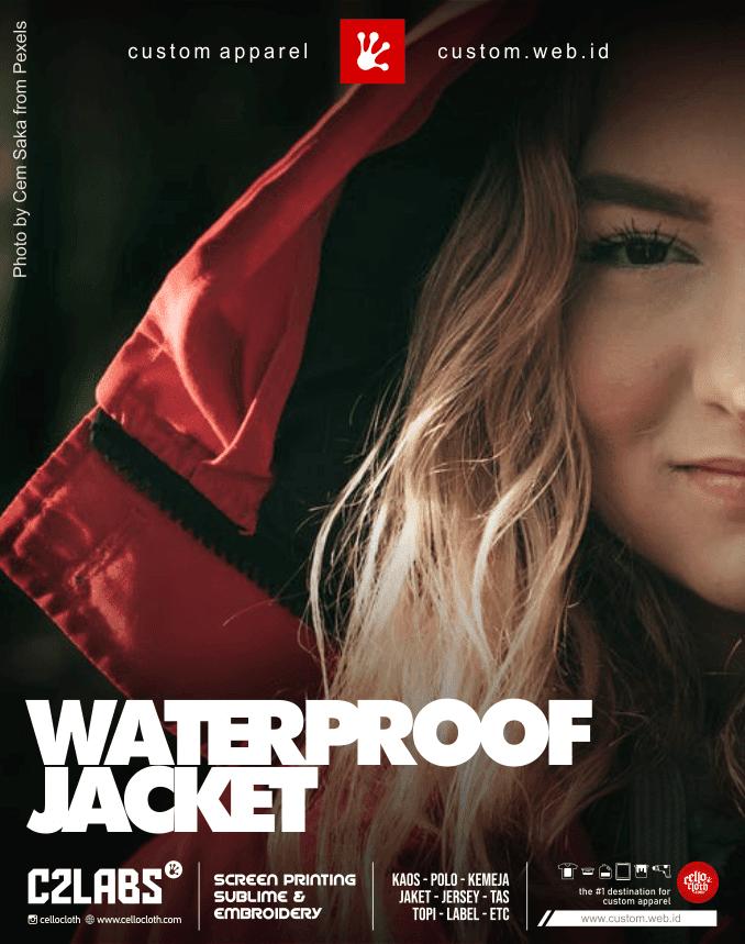 Waterproof Jacket Custom Siap Kirim ke Seluruh Indonesia, Malaysia, Taiwan etc