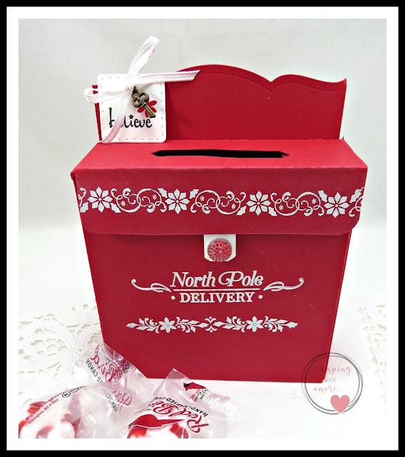 Christmas Mailbox.Stampingwithamore Santa S Christmas Mailbox Treat Box