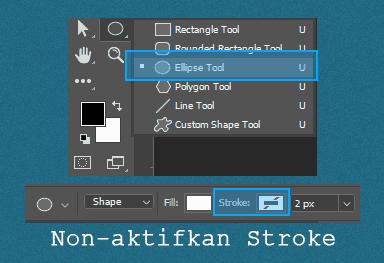 Cara menggunakan Ellipse Tool untuk membuat Pattern lingkaran di Photoshop