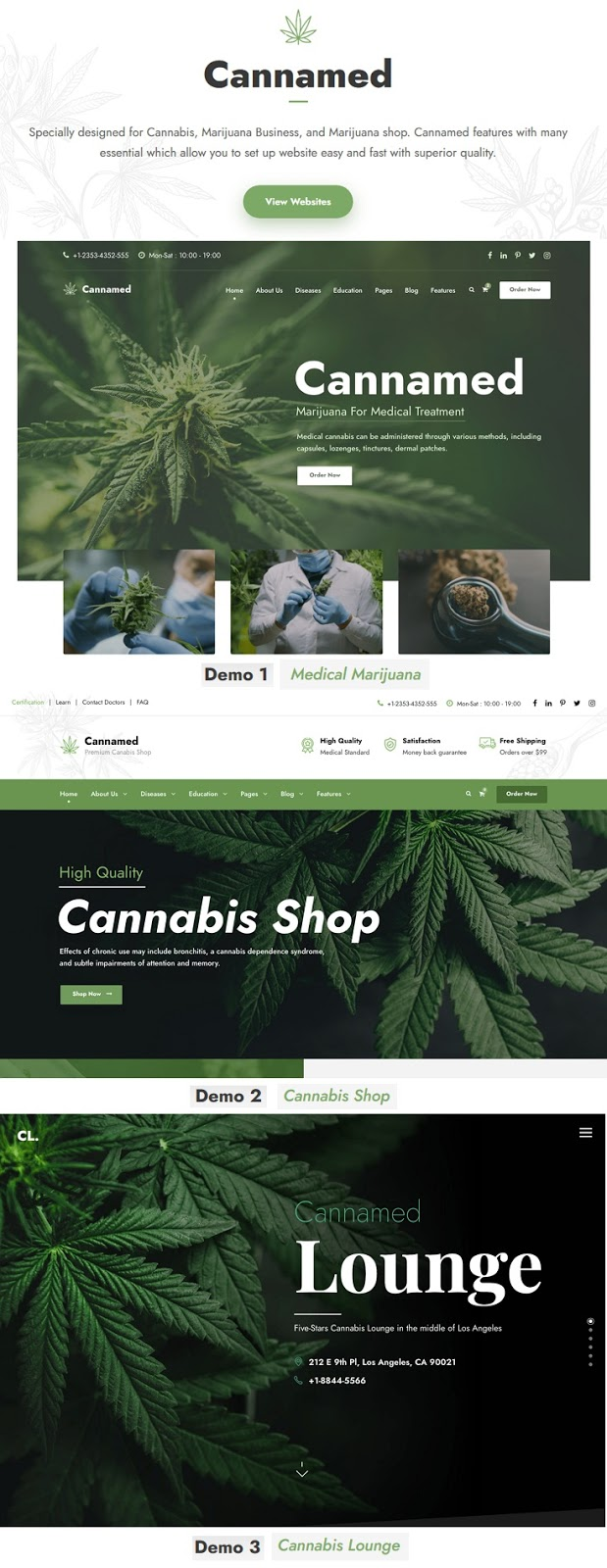 Cannabis & Marijuana WordPress Theme