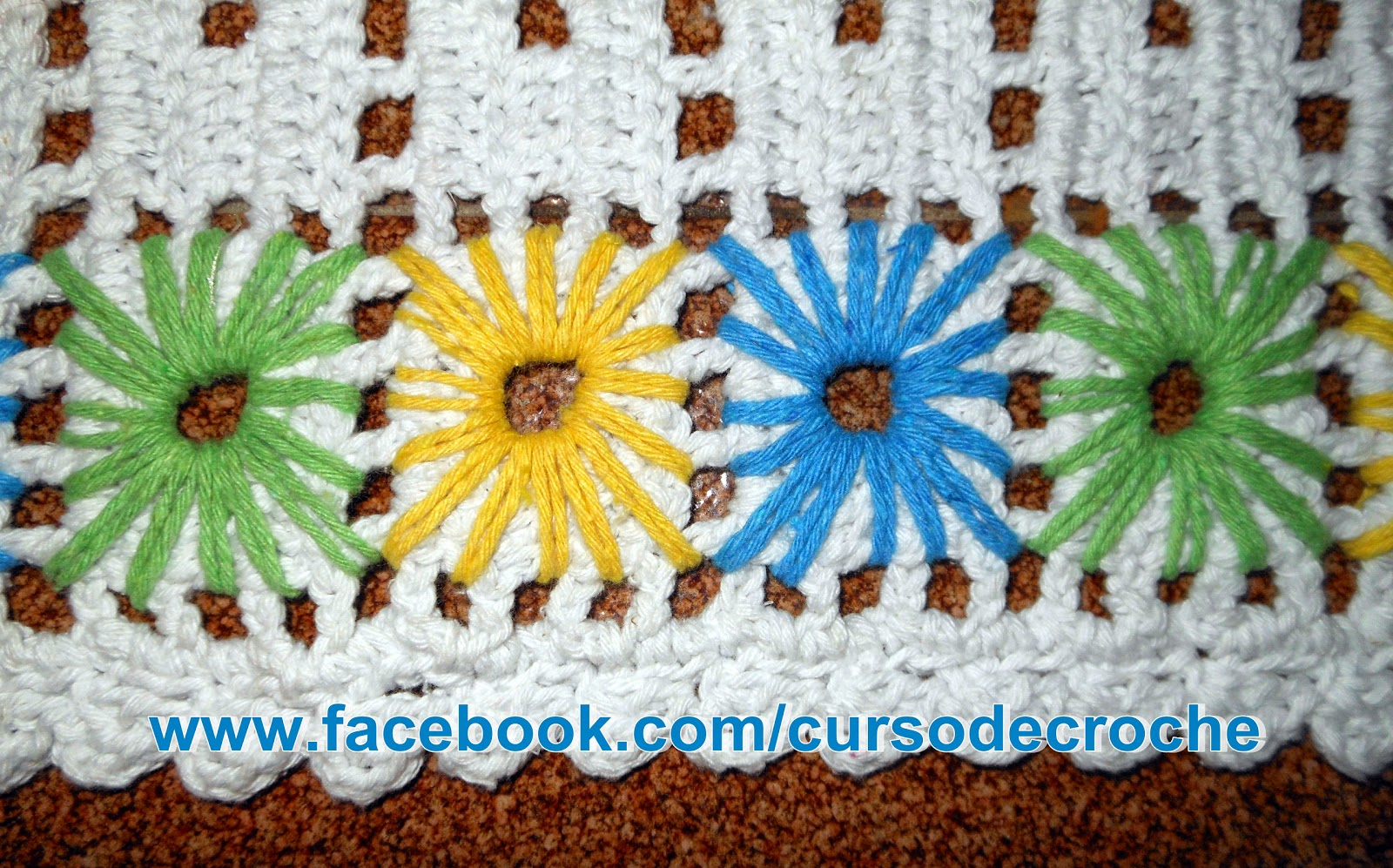 aprender croche bordado técnica ponto ilhós dvd curso de croche frete gratis loja edinir-croche