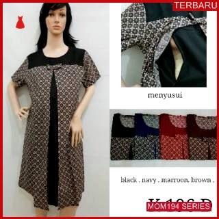 MOM194D20 Dress Hamil Menyusui Louivita Batik Dresshamil Ibu Hamil