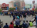 Demo Mahasiswa Tolak Undang-Undang Cipta Kerja di Samarinda