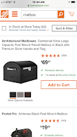 Home Depot ArchitecturalMailbox