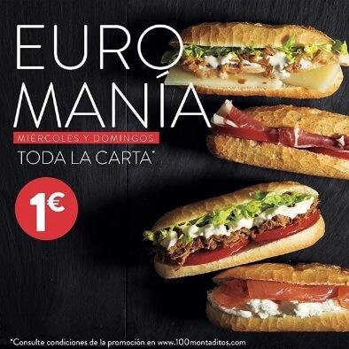 Toda la carta a un euro promo
