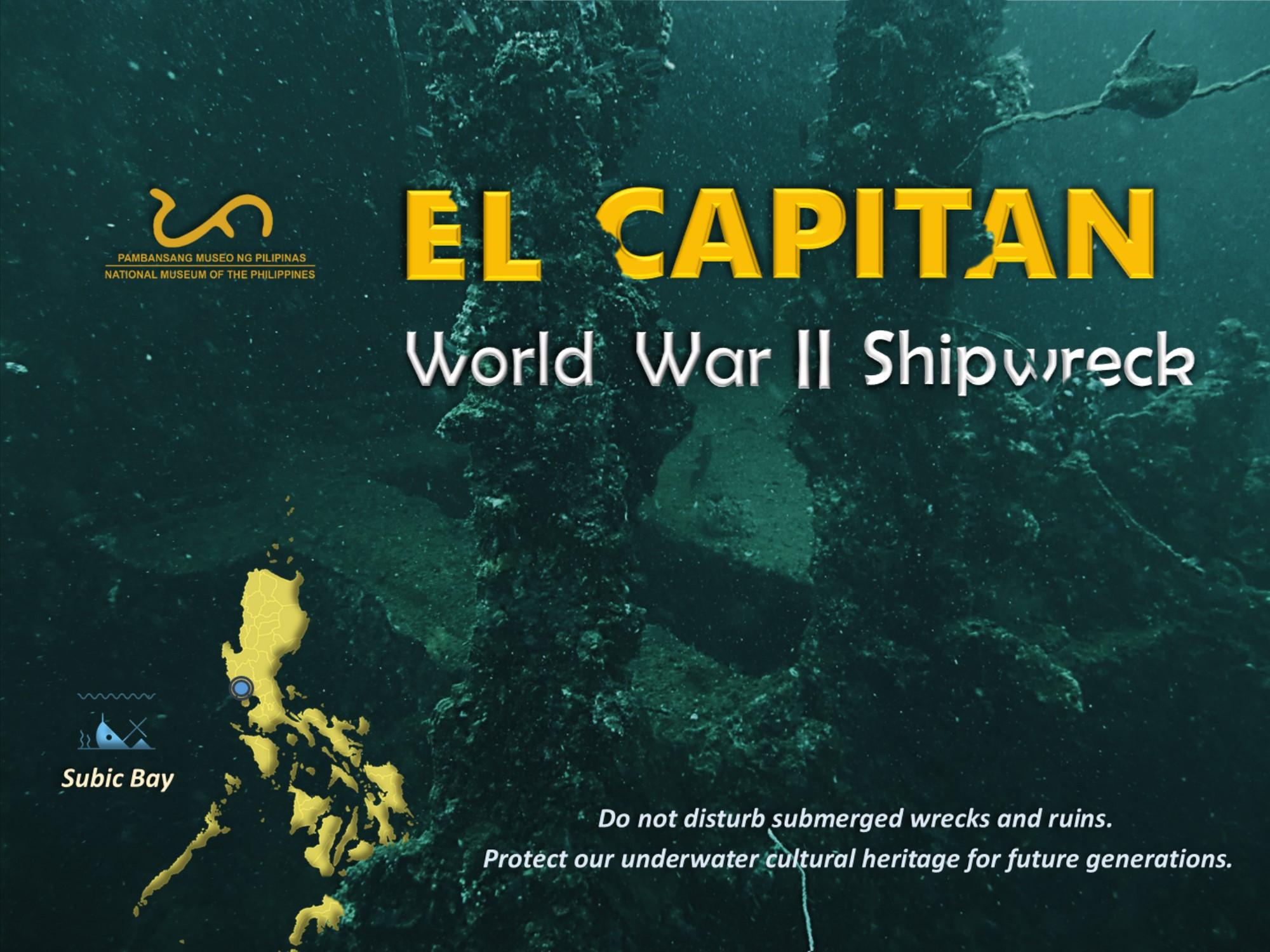 World Naval History - The most known World War II Shipwrecks - El Capitan, in Subic Bay, Zambales