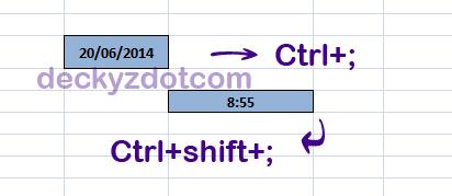 Cara menampilkan jam/waktu otomatis di excel
