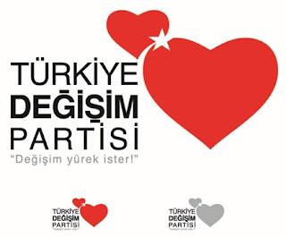 Mustafa Sarıgül'ün kurduğu Türkiye Değişim Partisi Logosu