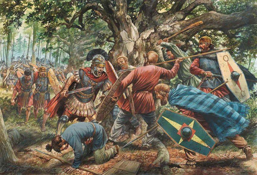 La batalla de Bosque de Teutoburgo