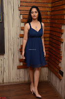 Radhika Mehrotra in a Deep neck Sleeveless Blue Dress at Mirchi Music Awards South 2017 ~  Exclusive Celebrities Galleries 080.jpg