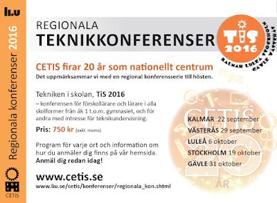http://www.liu.se/cetis/konferenser/regionala_kon.shtml