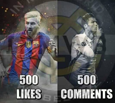 Like For #Messi   & Comment For #Ronaldo