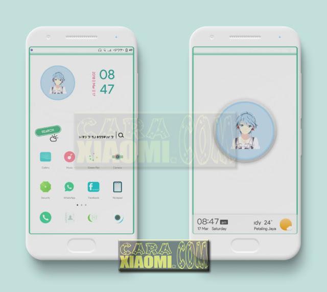 Tema MIUI Green Flat Minimal Mtz V3.0 Untuk MIUI V9 / V8 Update Tembus Tampilan ke Aplikasi WhatsApp, Instagram, BBM