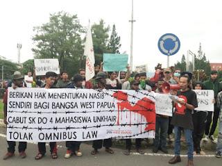 Aksi Serentak Di Beberapa Kota, Fri-WP : Berikan Hak Menentukan Nasib Sendiri Bagi Rakyat Papua