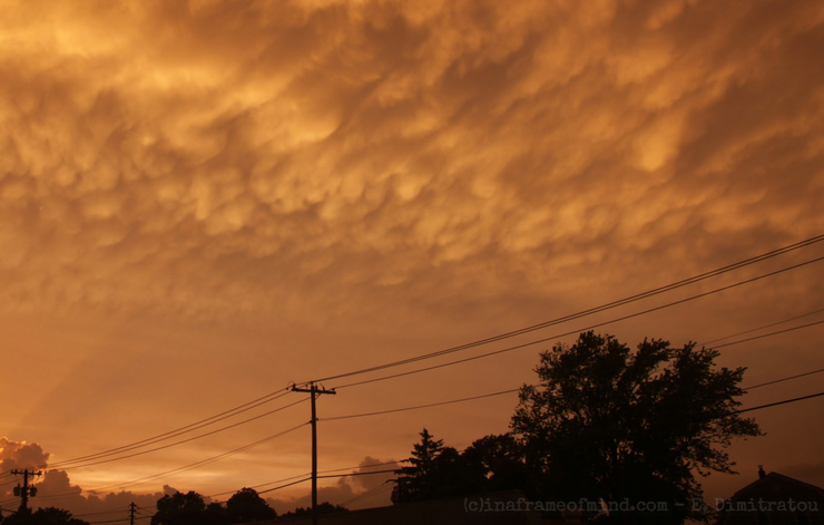 mammatus cloud Long Island, NY