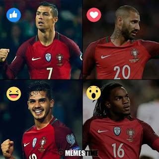 GIF Memes Time – Qual foi para si o melhor Jogador de Portugal frente à Letónia: Cristiano Ronaldo, Ricardo Quaresma, André Silva ou Renato sanches?  (fotos base: piliapp.com & jogadores.pt & abola.pt & blogvisaodemercado.pt & desporto.sapo.pt)