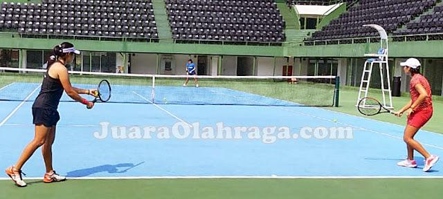 Laga Latih Tanding Antar Pemain Pelatnas Tenis. Siapa yang Terbaik?
