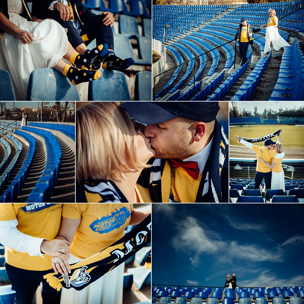 Ania i Piotrek - Plener ślubny - Stadion Motoru Lublin