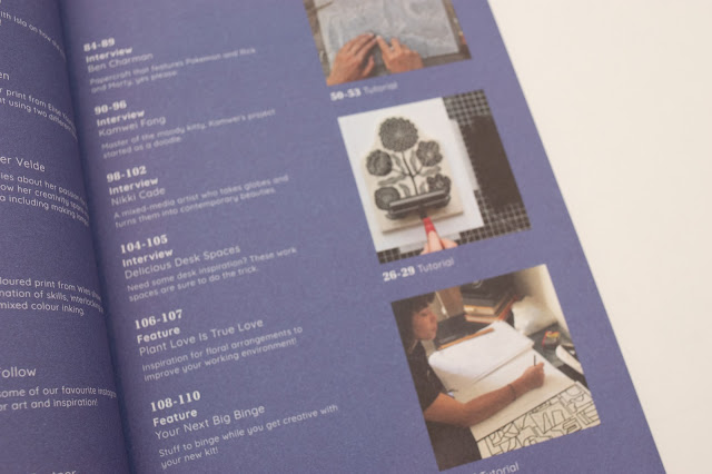 Inside the Artful Issue 3 Magazine - Contents page