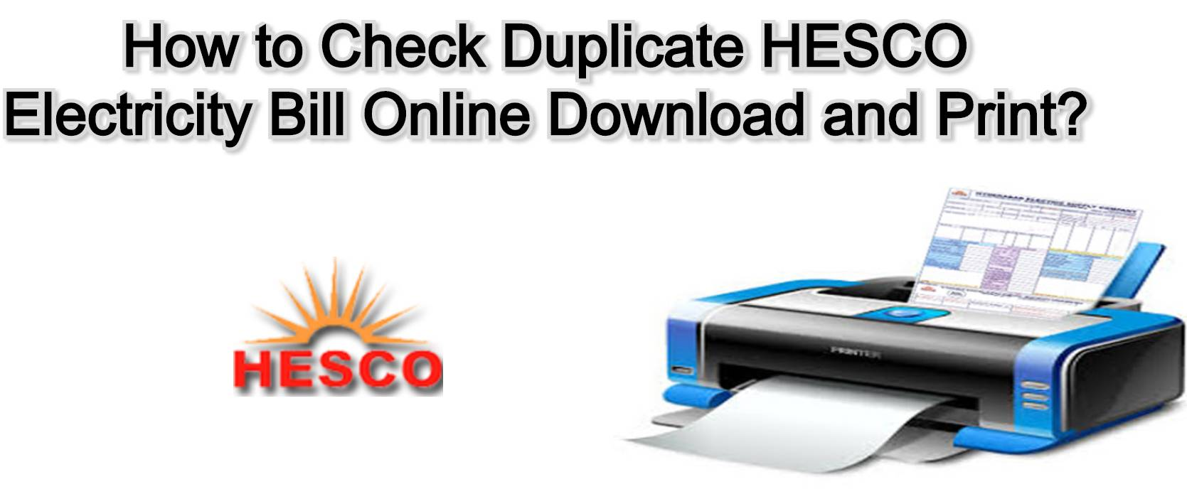 Hesco online bill - How to Check Duplicate HESCO Electricity Bill Online Download and Print?