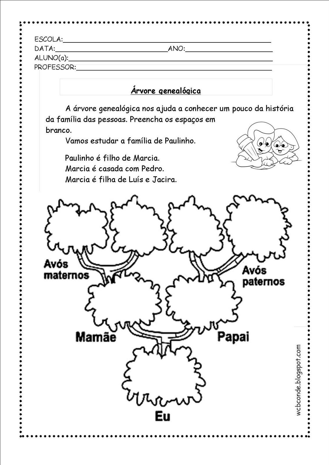 Top Árvore genealógica para construir e colorir. | Aprendendo com a  QW62