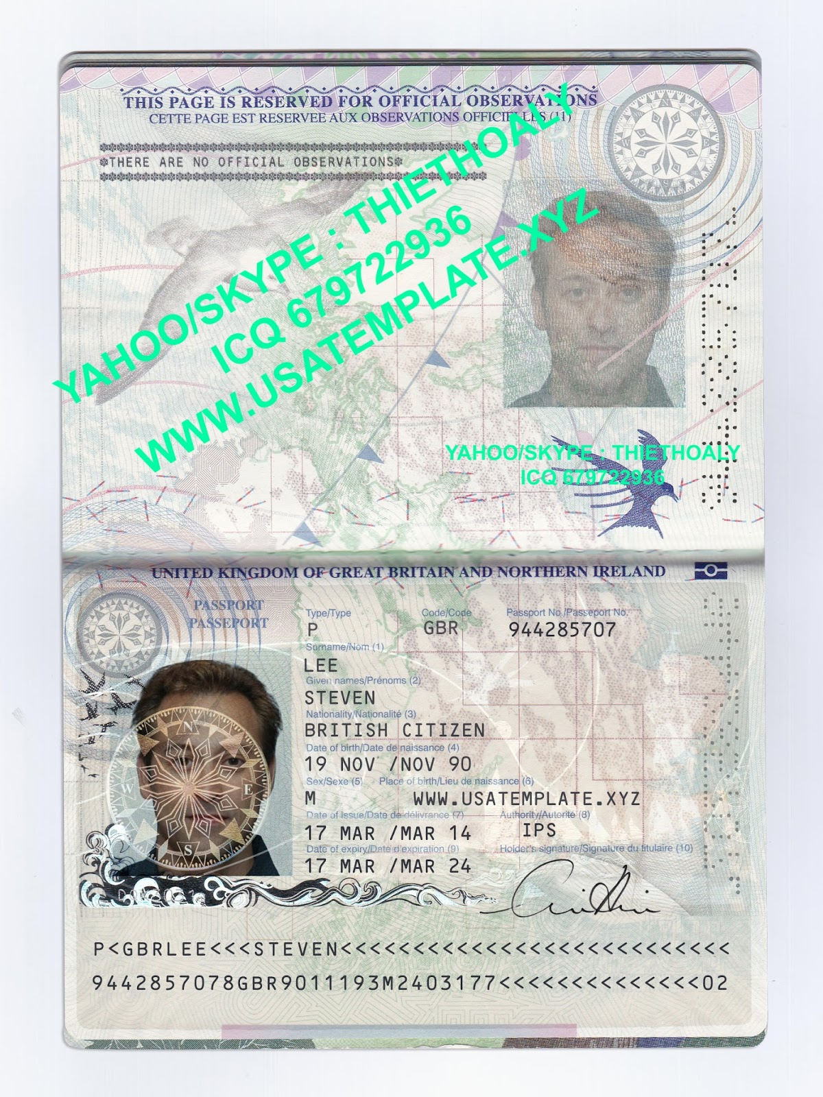 NEW UK PASSPORT TEMPLATE PSD - PSD TEMPLATE USA, UK,EU,CA,AU,ASIA ...