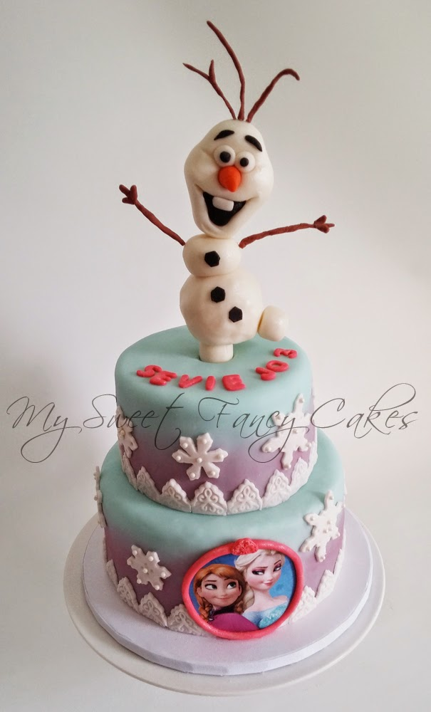 My Sweet Fancy Cakes Frozen Cake Featuring Olaf