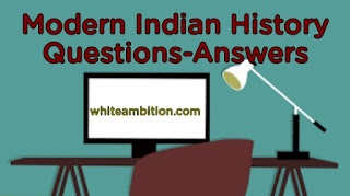 Modern Indian History Questions in Hindi