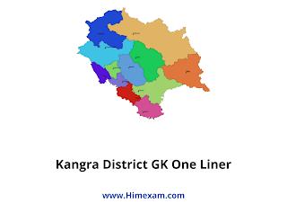 Kangra District GK One Liner