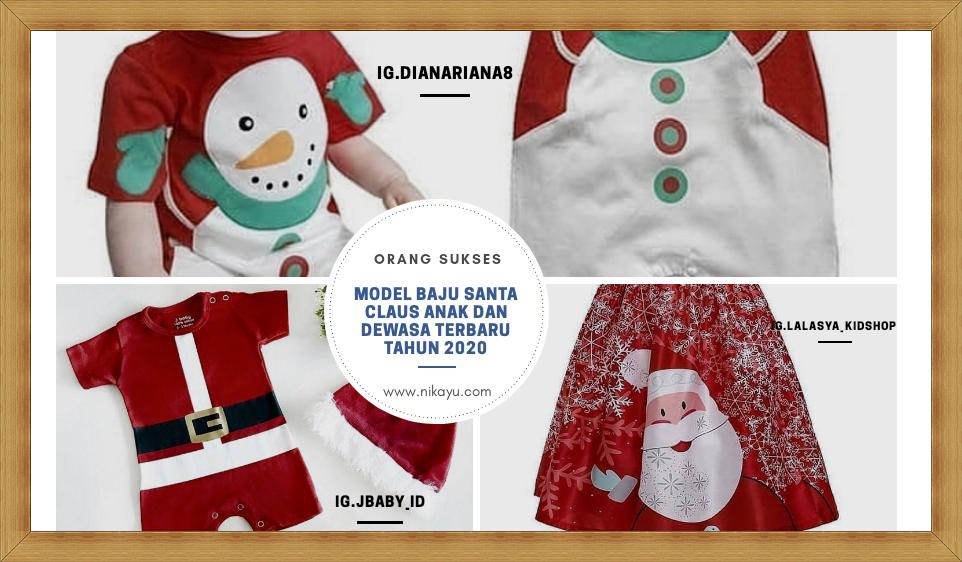 Model Baru Baju Santa Claus Anak [Christmas] 2020 | Harga Murah