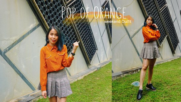 A Pop of Orange Weekend Outfit #84