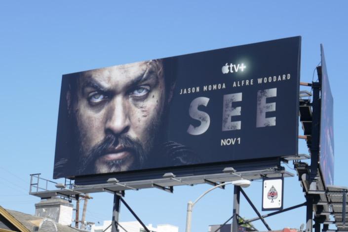 See Apple TV+ series premiere billboard