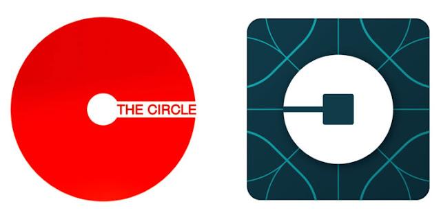 Le logo de The Circle est celui de Uber, inversé