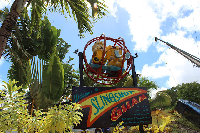 One of the attractions in Lower Tumon Guam where you are literally shot up using super large slingshot