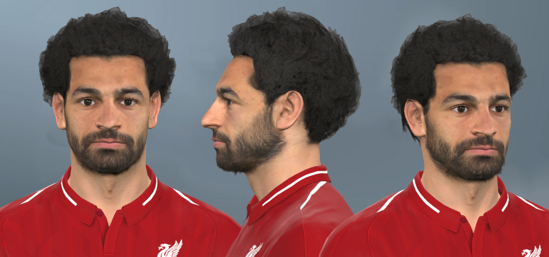 M. Salah Face FROM FIFA 19 TO PES 2017 by Shenawy
