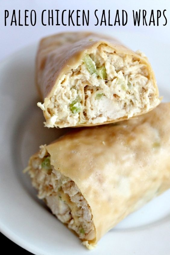 Paleo Chicken Salad Wraps